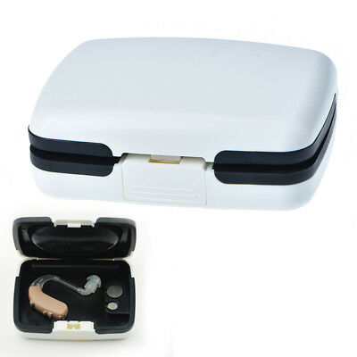 portable bte hearing aid aids storage case carrying box audiophone holder  X