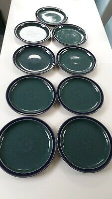 "denby harlequin dinner plate 10.25"" diameter blue and green"