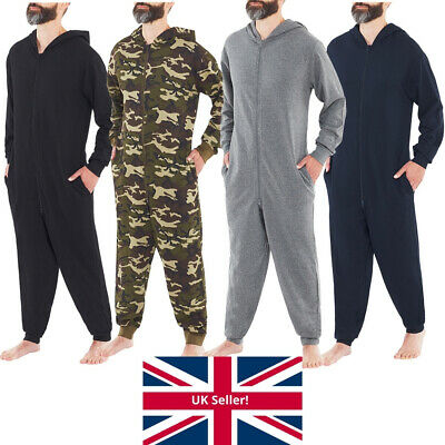 Just Essentials Mens 1Onesie Hooded Jumpsuit All In One Gaming Plain Camo Print