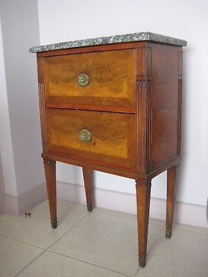 Commode Noyer Epoque Début 19 Xix Eme Ancien Antique Walnut Chest Of Drawers