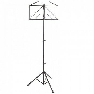 Kinsman OPS55BK Deluxe Music Stand and Bag - Black