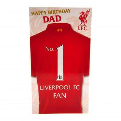 Liverpool FC DAD Birthday Card Official Club Merchandise Gift