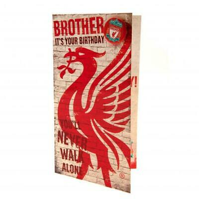 Liverpool FC Brother Birthday Card Official Club Merchandise Gift
