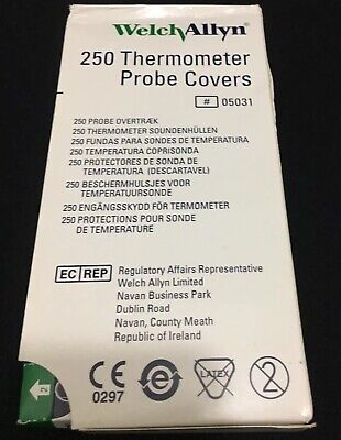NEW 250pcs Welch Allyn 05031 Probe Covers for SureTemp 690 & 692 Thermometers