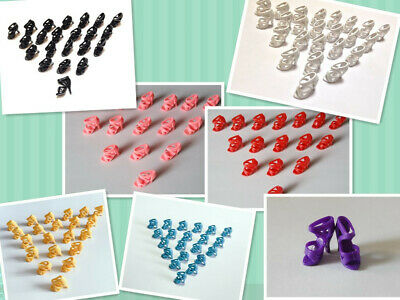 """105 Pairs 7 Mix color High Heel Shoes Boots For 11.5"""" Doll / Toy Girl Gifts A04"""