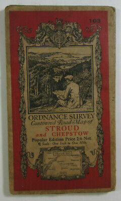 1932 Old OS Ordnance Survey One-Inch Popular Edition Map 103 Stroud & Chepstow