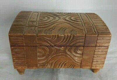 Beautiful Vintage Wooden Musical Storage Box (Width - 14.5 cm)