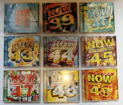 Now Thats What I Call Music Bundle of 9 Double CDs - 33,39,40,43,44,45,47,48,49