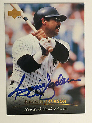 1995 Upper Deck REGGIE JACKSON on Card Auto HOF certified
