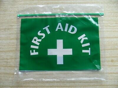 Refillable FIRST AID KIT BAG with ZIPLOCK FASTENING - Freepost UK