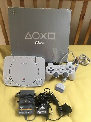 PS1 PSone Slim Boxed Console Bundle - Excellent Condition - Sony PlayStation PAL