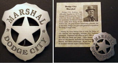 star silver Wild Bill HIckok western Old West Style Marshal Badge