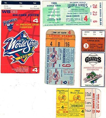 1989 World Series Game 4 Clincher Ticket Stub Sf Giants @ Oakland Athletics A's