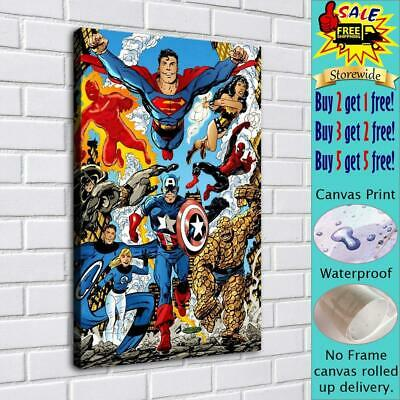 """Super hero HD Canvas print Painting Home Decor Picture Room Wall art 16""""x24"""""""