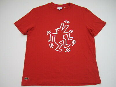 f16a2aa0 NEW MEN'S LACOSTE X Keith Haring Th4297-Sbh Ss Tee Printed Stripes ...