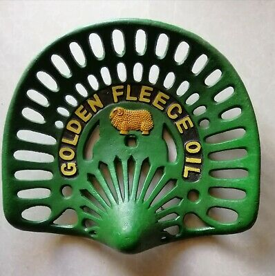 Collectable Cast Iron Golden Fleece  Tractor Seat ..