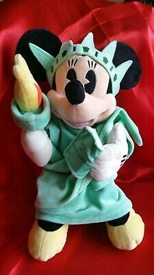 (L) Disney New York Minnie Mouse Statue of Liberty 4th of July Plush Mickey