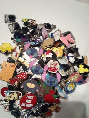 Disney pins lot of 100 and 100% tradable and a carded pin usa seller a2