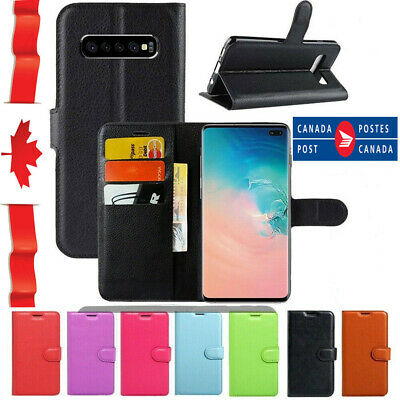 Samsung Galaxy S8 S9 S10 Plus Note 8 9 Wallet Leather Shockproof Case Cover