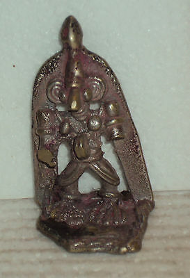 Antique Traditional Indian Rare Bronze Statue GOD SHIVA Tribal #2w