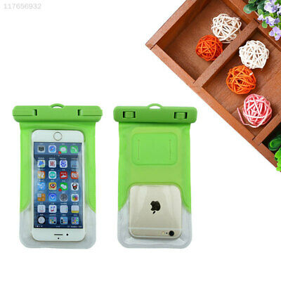 40B6 Waterproof Phone Armband Green for 4.8-6'' Case Seal Cover Phones Diving
