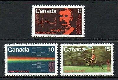 Canada 1973 Royal Canadian Mounted Police MNH set S.G. 751-753