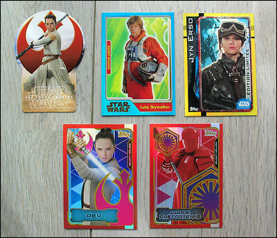 5 Edition Limitee Topps Star Wars Reveil De La Force Rogue One Les Derniers Jedi