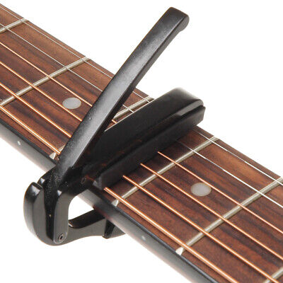 Black Capo Clamp for Acoustic Electric Guitar New Quick Positive Response