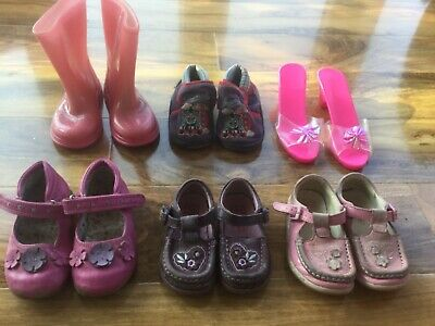 Girls shoes for kids age 1 to 4 years (6 pairs)