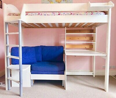 Fantastic Stompa Casa High Sleeper Bunk Bed With Sofa Pull Out Bed Machost Co Dining Chair Design Ideas Machostcouk