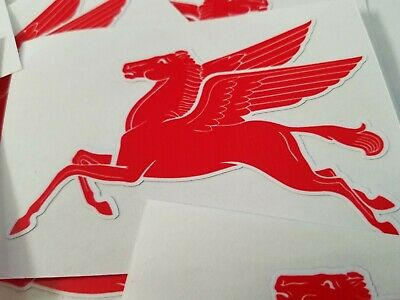 Mobil Pegasus Decals Stickers one left and one right