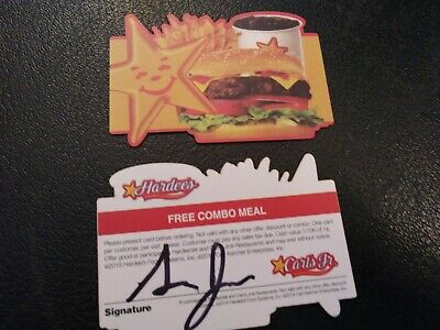 Hardee's or Carl's Jr. Combo Meal Voucher, NO EXPIRATION, FREE SHIPPING