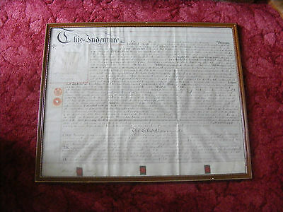 Antique Document Indenture 1879 Richard Foster Mary Jane & John Higham London