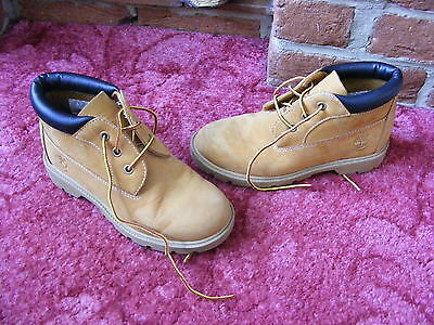 Womens Ladies Girls Boys Kids Timberland Leather Ankle Boots UK 2 EU 34.5 1/2