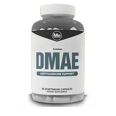 DMAE 90 x 250mg Veggie Capsules for Choline Support & Promotes Energy & Mood NEW