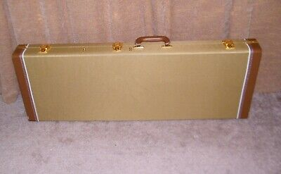 Tweed Electric Guitar Case Hardshell Fits Most Strat & Tele Shaped Guitars