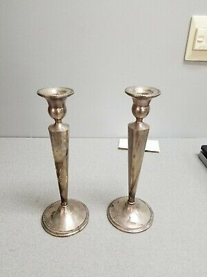 Pair Sterling Weighted Candlesticks 390