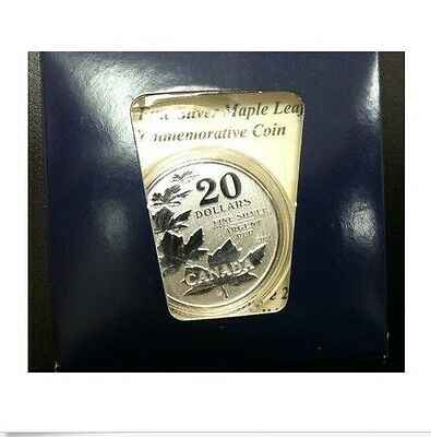 2011 $20 Dollars Commemorative .9999 Fine Silver Maple leaf coin in Capsule