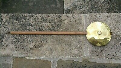 Large Antique Regulator Pendulum approximately 28ins long with a 6.5ins wide bob