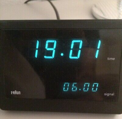 BRAUN VISOTRONIC 4 DN54 LED Digital Alarm Clock 4807 Wecker Rams Design MOMA OVP