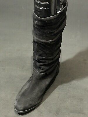 09b0d57b0df UPSCALE DUNE LONDON BLACK LEATHER Slouch boots moto sz 10 - $49.00 ...