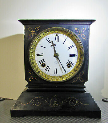 Antique Ansonia cast iron Mantel clock