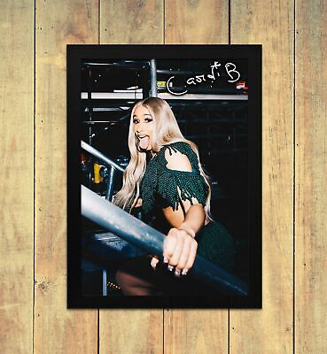 Cardi B 1 Signed Autograph Poster Print A4 A5 Frame