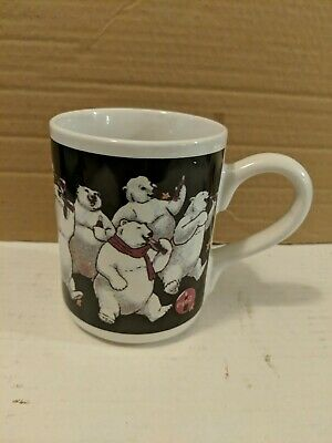 Coca Cola Polar Bear Coffee Mug Vintage 1999