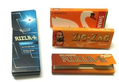 Rizla Polar Blast Filter Tips Crush Ball Extra Slim Tip Liquorice Rolling Papers