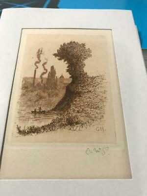 """AMOS SANGSTER sign ETCHING FROM Limited Edition """"A Bit Niagara"""" No RESERVE"""