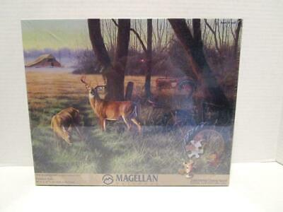 NEW SEALED Magellan Outdoors 550 Pc Jigsaw Puzzle Doe & Buck End of the Harvest