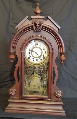 """Ansonia Clock Co. """"Remus"""" Parlor Mantle Chime Clock With Coil Gong"""
