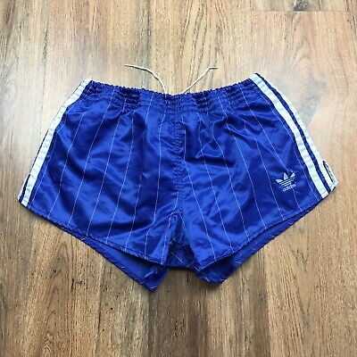 Vintage 80's Adidas Shiny Nylon Shorts Glanz West Germany Size Small D5 (S278)