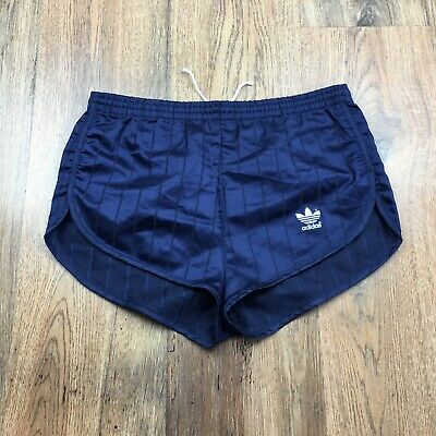 Women's Vintage Adidas Shiny Polyester High Cut Shorts Glanz Size 10* (S250)